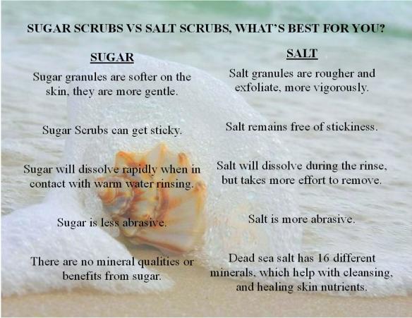 Sugar Scrub vs Salt Scrub