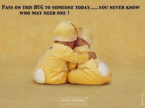 pass on a hug