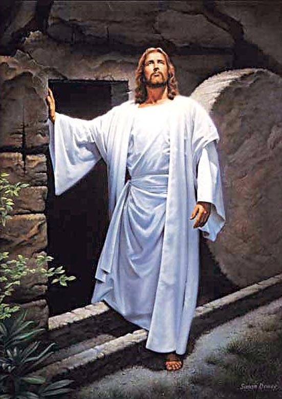 jesus walks out of tomb