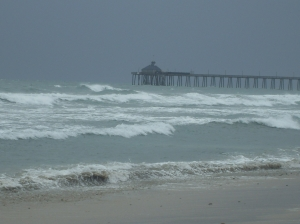 A storm is coming in. Is Jesus in the storm of your life? - Oceanside Pier, CA - Photo taken by Candy Clonts